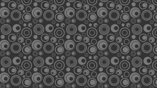 Dark Grey Circle Background Pattern