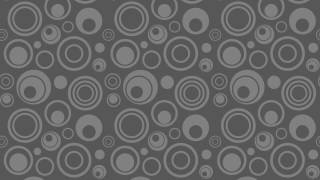Dark Grey Geometric Circle Pattern Background