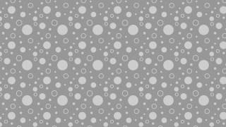 Grey Seamless Geometric Circle Background Pattern