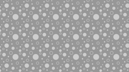 Grey Seamless Geometric Circle Background Pattern