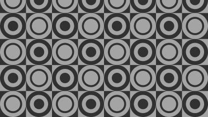Dark Grey Seamless Circle Pattern Illustrator