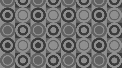 Dark Grey Seamless Circle Background Pattern Vector