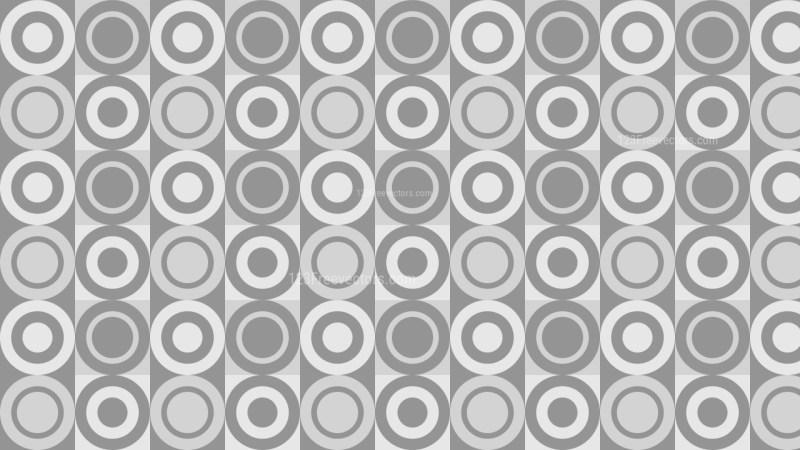 Grey Seamless Geometric Circle Pattern Vector Art