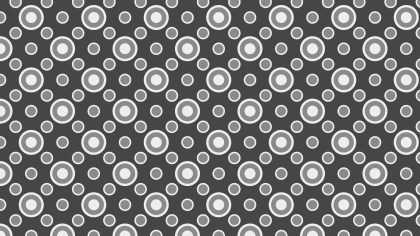 Grey Seamless Geometric Circle Pattern Background Graphic