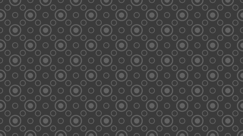 Dark Grey Seamless Geometric Circle Background Pattern Illustration
