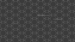 Dark Grey Seamless Circle Background Pattern