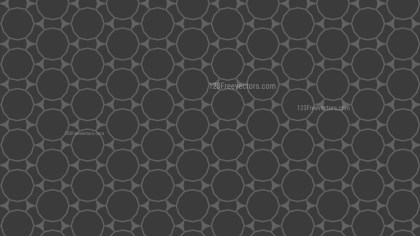 Dark Grey Seamless Circle Background Pattern