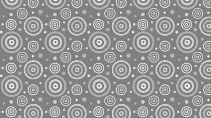Grey Concentric Circles Pattern Background Vector Illustration