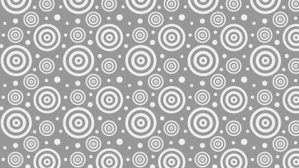 Grey Concentric Circles Background Pattern Vector