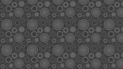 Dark Grey Seamless Geometric Circle Pattern