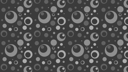 Dark Grey Seamless Geometric Circle Background Pattern Vector Image