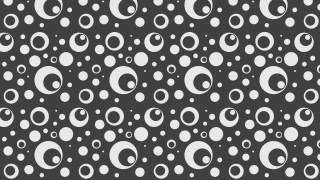 Dark Grey Circle Pattern