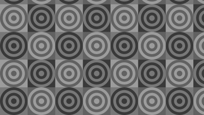 Dark Grey Seamless Concentric Circles Background Pattern Illustration