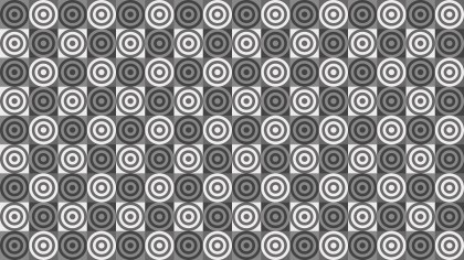 Grey Concentric Circles Background Pattern