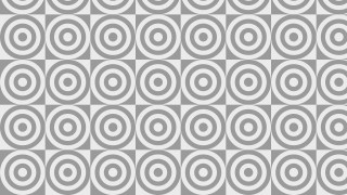 Grey Seamless Concentric Circles Pattern Background