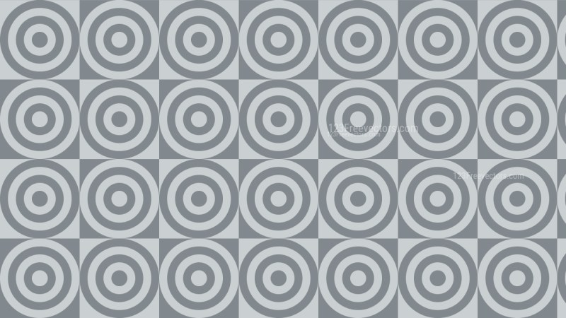 Grey Seamless Concentric Circles Background Pattern