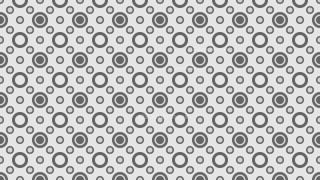 Grey Seamless Geometric Circle Pattern