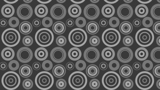 Dark Grey Concentric Circles Background Pattern Graphic