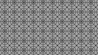 Grey Seamless Geometric Circle Pattern Vector Illustration