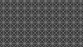 Dark Grey Seamless Geometric Circle Pattern Background Vector