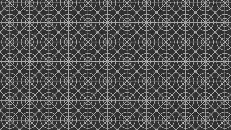 Dark Grey Seamless Geometric Circle Pattern Background Vector