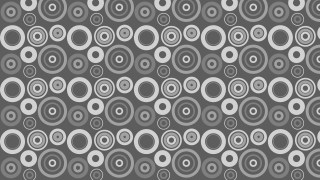 Grey Seamless Geometric Circle Background Pattern Vector Art
