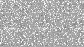 Grey Seamless Overlapping Circles Background Pattern