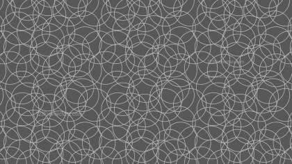 Dark Grey Overlapping Circles Pattern Illustrator