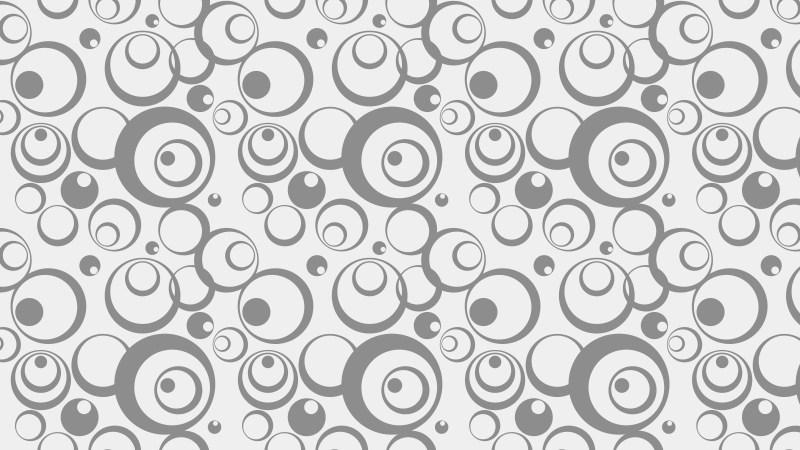 Light Grey Seamless Circle Pattern