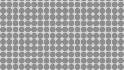 Grey Seamless Circle Pattern Vector