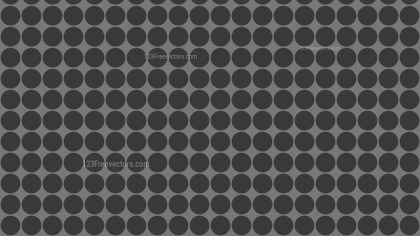 Dark Grey Seamless Circle Pattern Background Vector Art