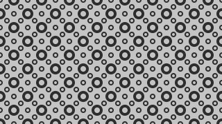 Grey Seamless Geometric Circle Pattern Illustration