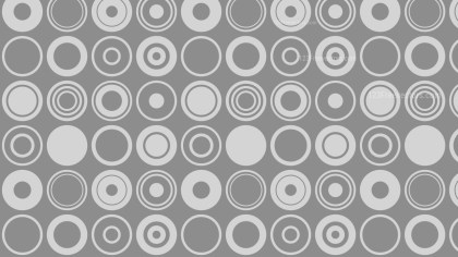 Grey Seamless Circle Background Pattern