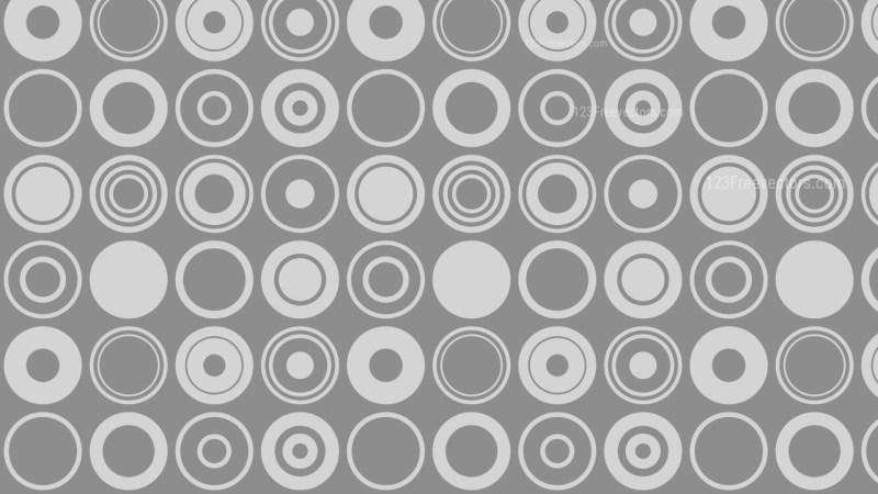 Grey Seamless Circle Background Pattern