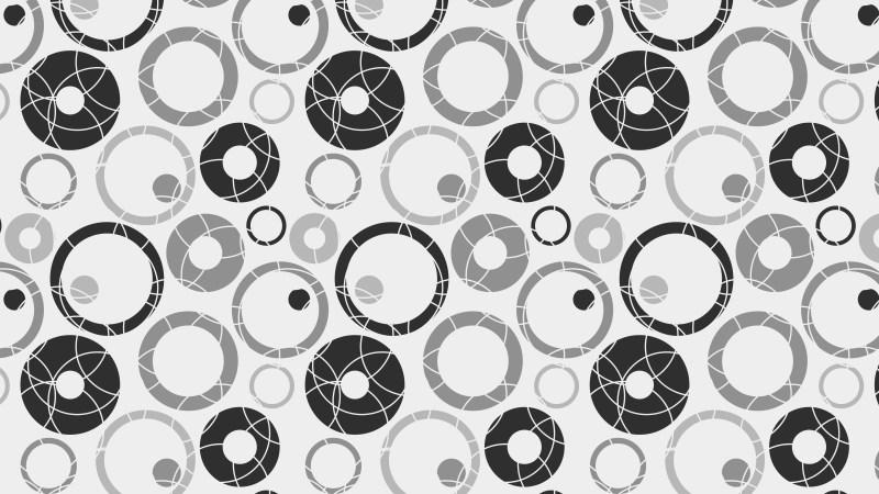 Grey Seamless Circle Pattern Background Image