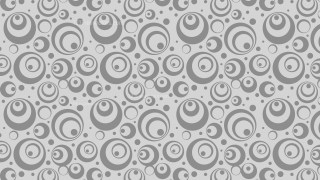 Grey Seamless Circle Background Pattern Vector Graphic