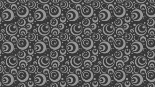 Dark Grey Seamless Geometric Circle Pattern Vector Image
