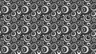 Dark Grey Seamless Geometric Circle Pattern Background Illustrator