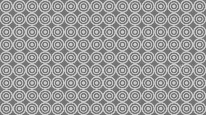 Grey Seamless Concentric Circles Pattern Background Design