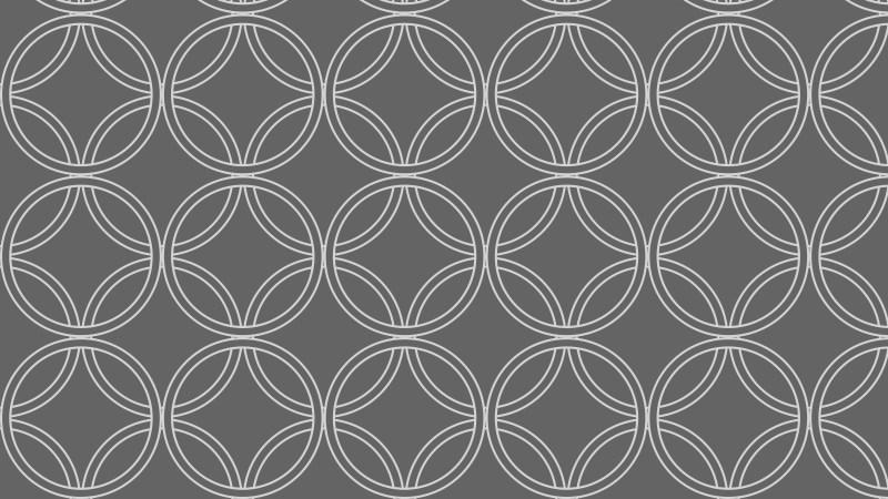 Dark Grey Overlapping Circles Background Pattern Vector