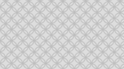 Light Grey Seamless Overlapping Circles Pattern Vector Art