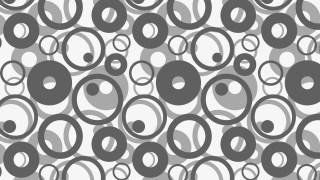 Grey Seamless Overlapping Circles Pattern Background Graphic