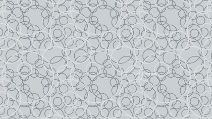Grey Overlapping Circles Background Pattern