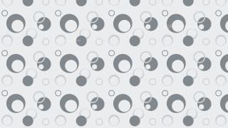 Grey Seamless Geometric Circle Background Pattern Illustration