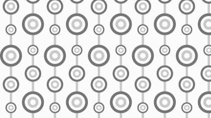 Grey Seamless Retro Circles Background Pattern Vector Illustration