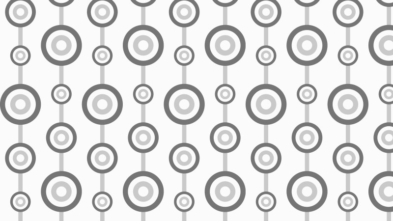 Grey Seamless Retro Circles Background Pattern Vector Illustration