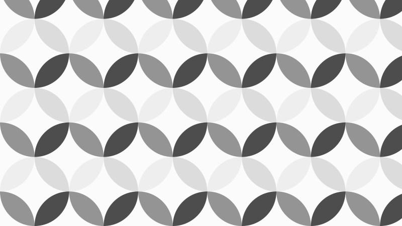 Grey Seamless Overlapping Circles Pattern