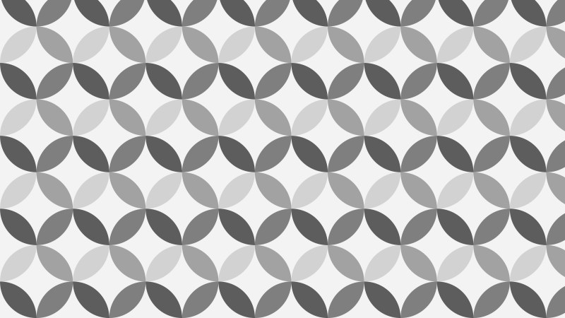 Grey Seamless Overlapping Circles Pattern Background