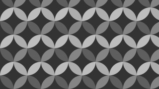Dark Grey Overlapping Circles Pattern Vector