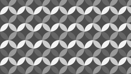 Dark Grey Overlapping Circles Pattern Background Vector Art